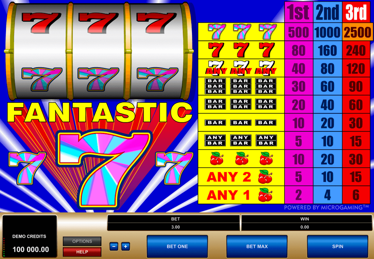 fantastic 7s microgaming casino slot spel