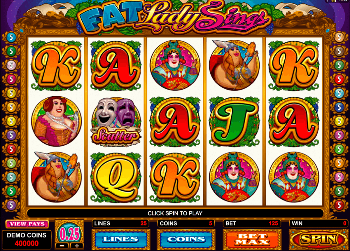 fat lady sings microgaming casino slot spel