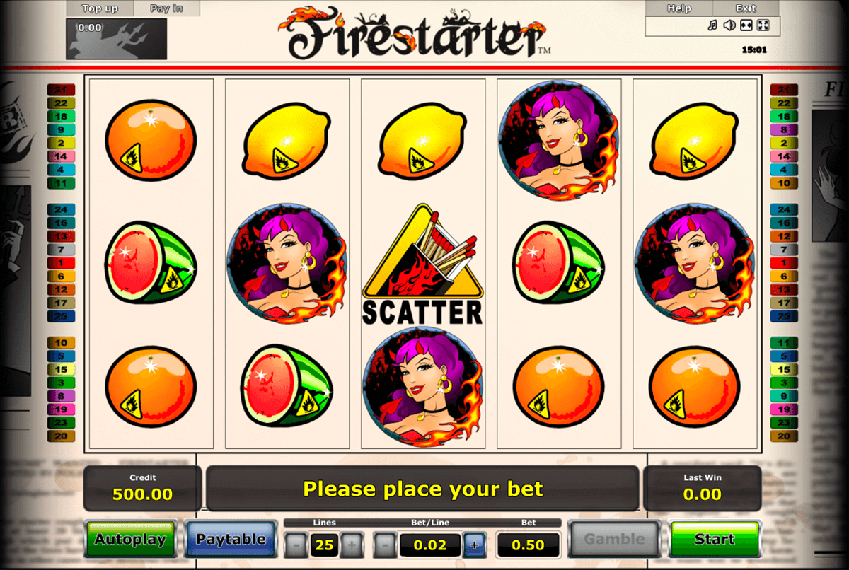 firestarter novomatic casino slot spel