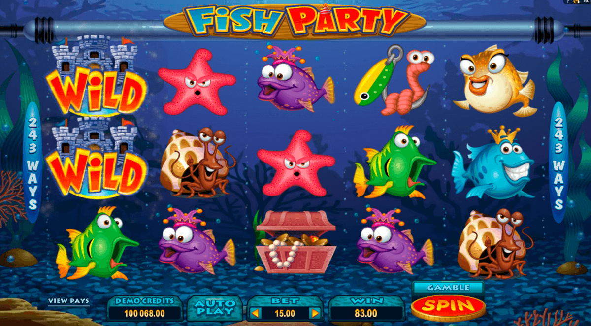fish party microgaming casino slot spel