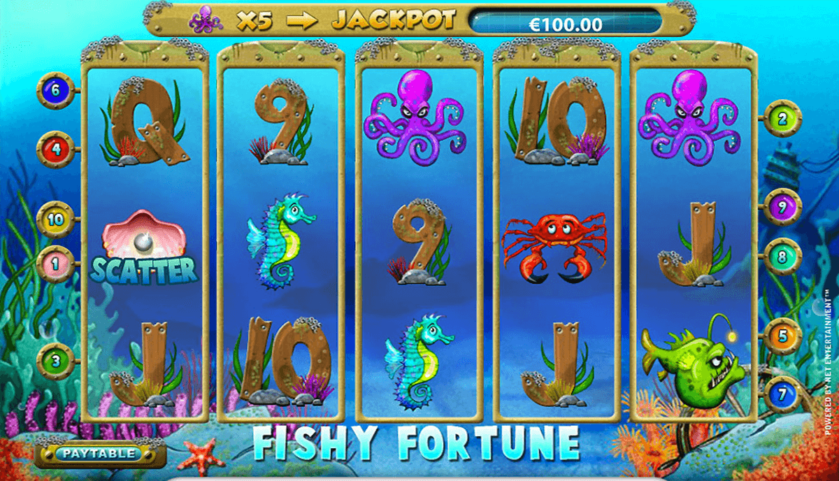 fishy fortune netent casino slot spel