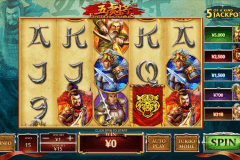 five tiger generals playtech casino slot spel