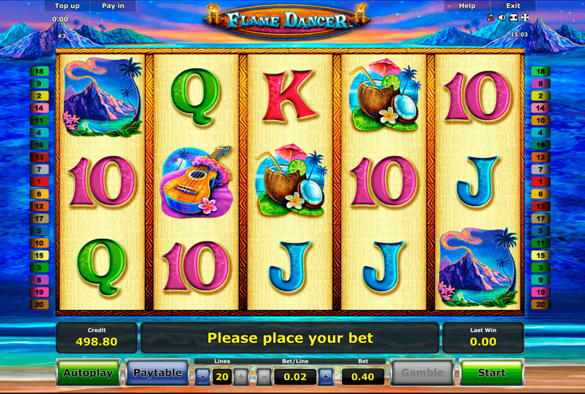 flame dancer novomatic casino slot spel
