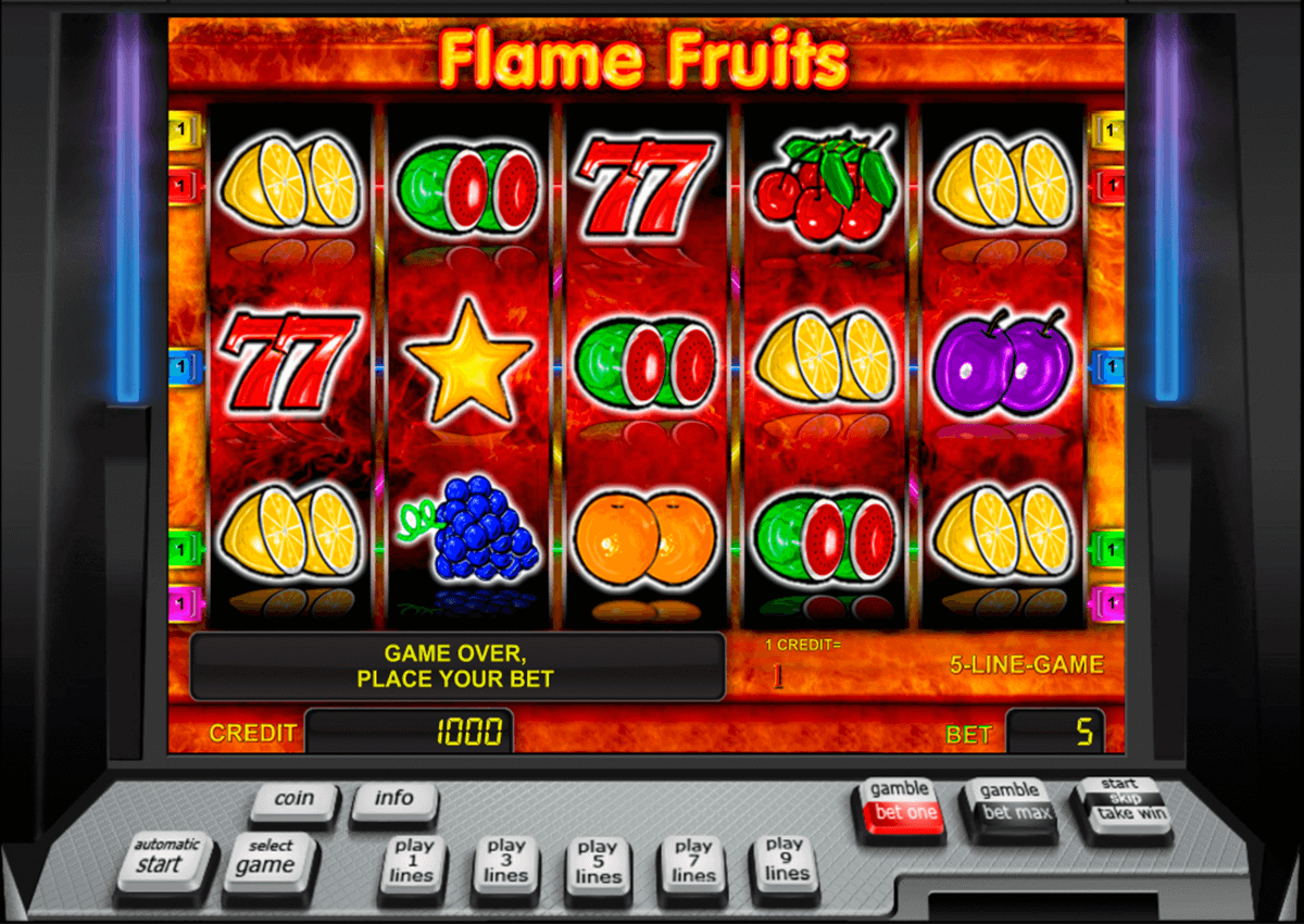 flame fruits novomatic casino slot spel