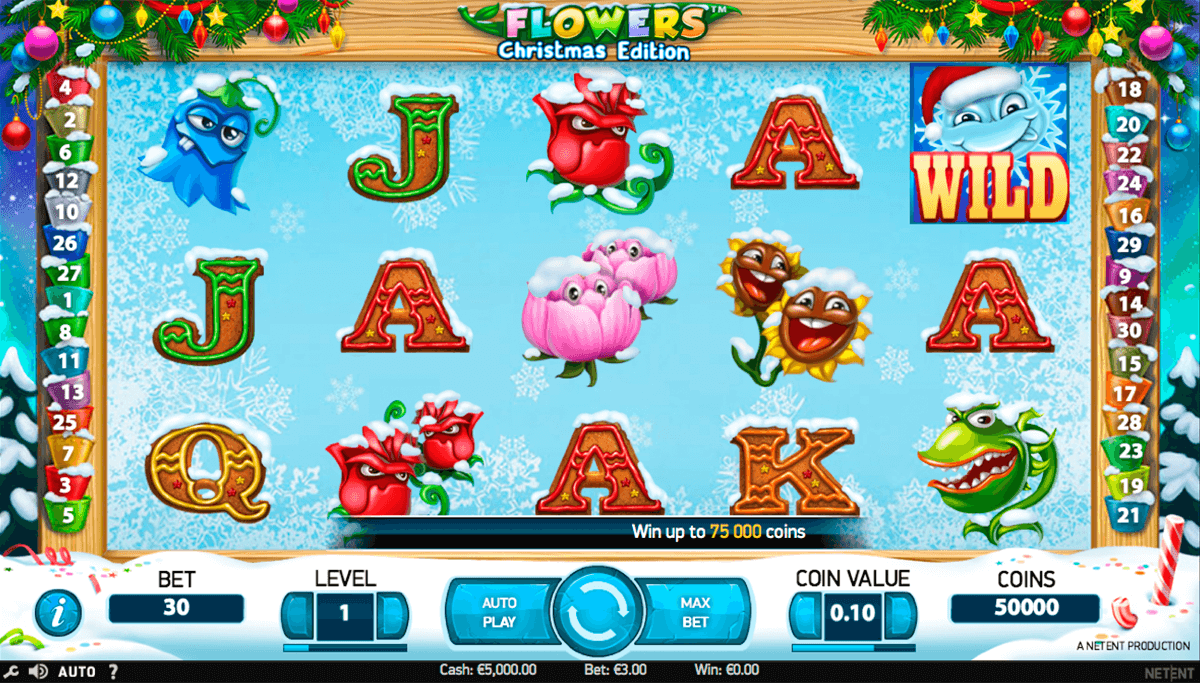 flowers christmas edition netent casino slot spel