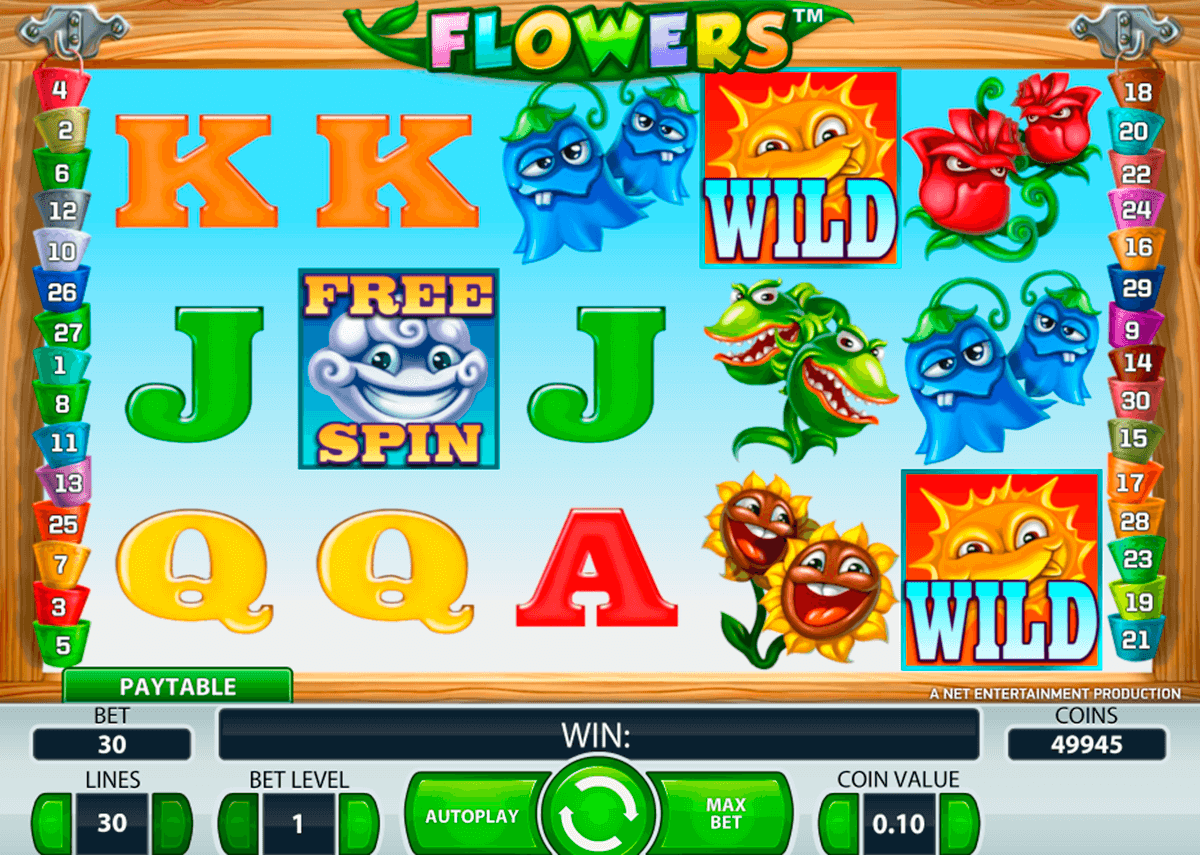 flowers netent casino slot spel