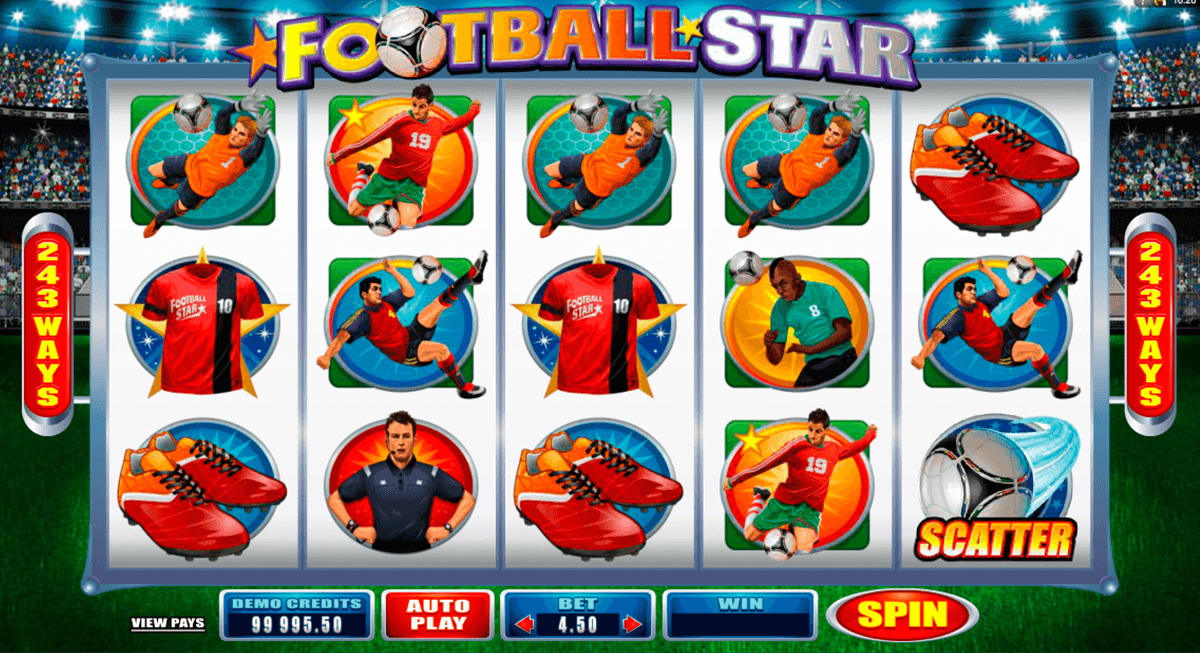 football star microgaming casino slot spel