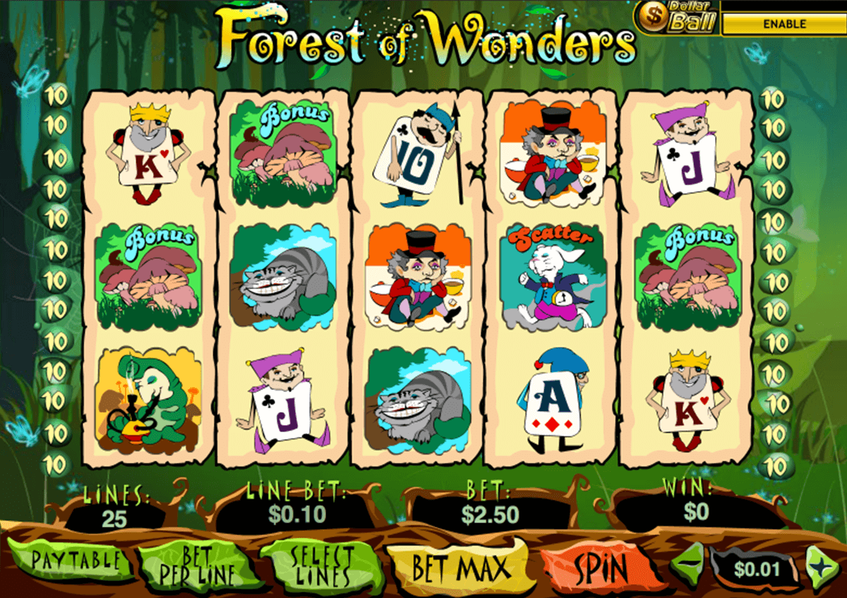forest of wonder playtech casino slot spel