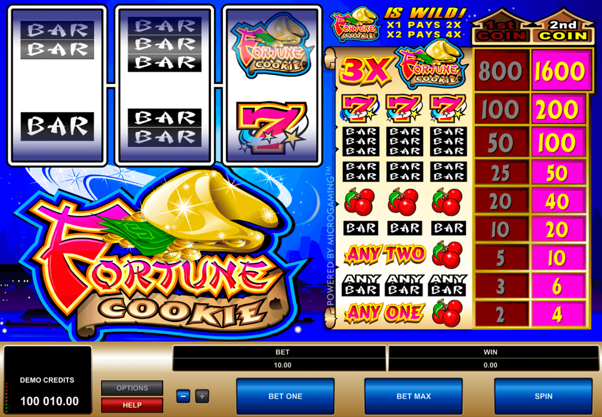 fortune cookie microgaming casino slot spel