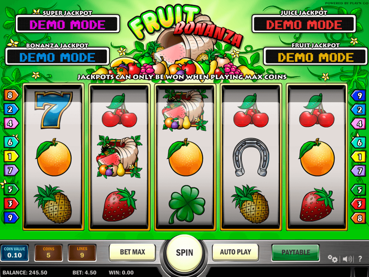 fruit bonanza playn go casino slot spel