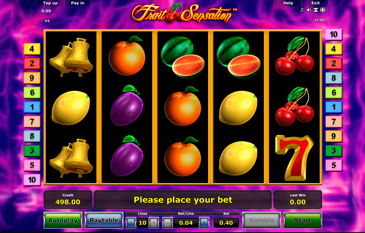 fruit sensation novomatic casino slot spel