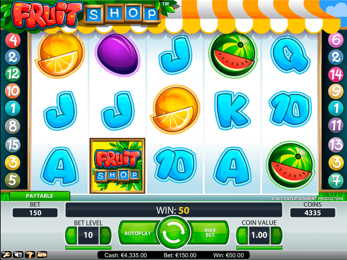 fruit shop netent casino slot spel