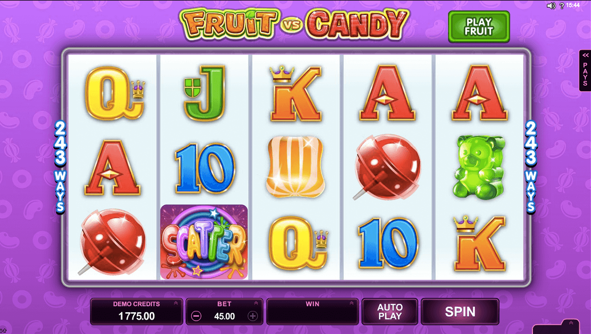 fruit vs candy microgaming casino slot spel