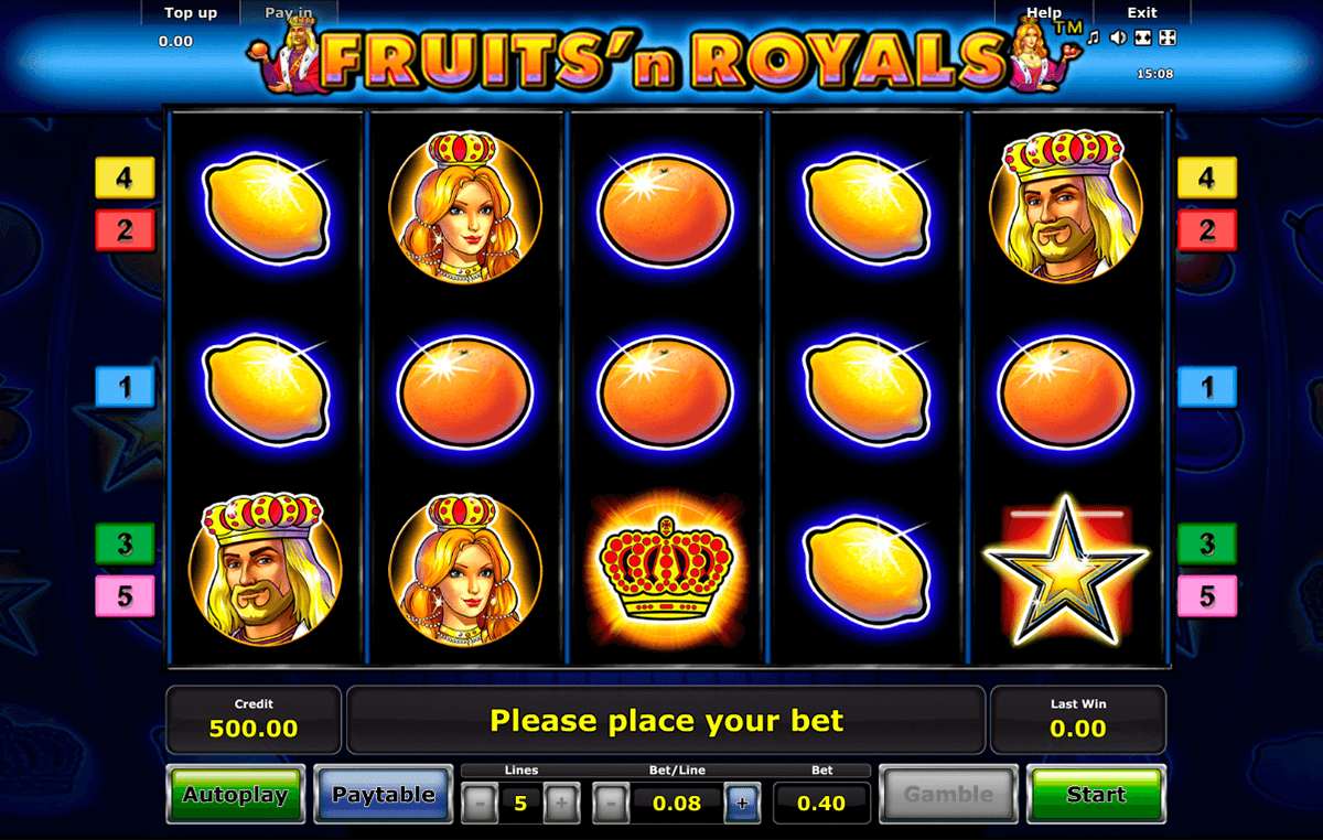 fruitsn royals novomatic casino slot spel