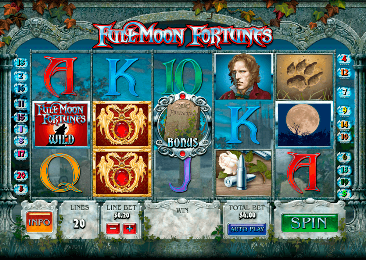 full moon fortunes playtech casino slot spel