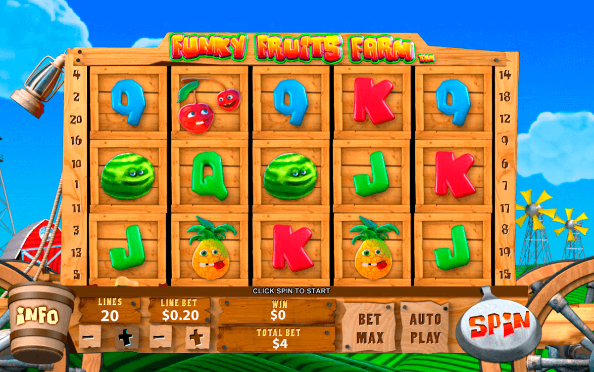 funky fruits farm playtech casino slot spel