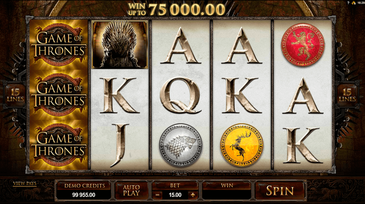 game of thrones 15 lines microgaming casino slot spel