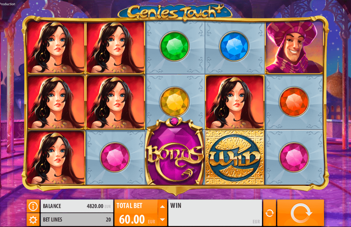 genies touch quickspin casino slot spel