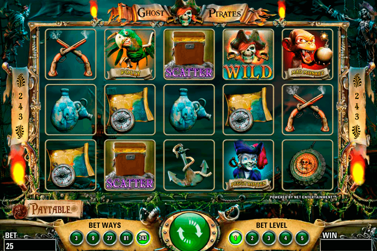 ghost pirates netent casino slot spel