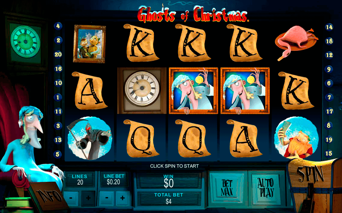 ghosts of christmas playtech casino slot spel
