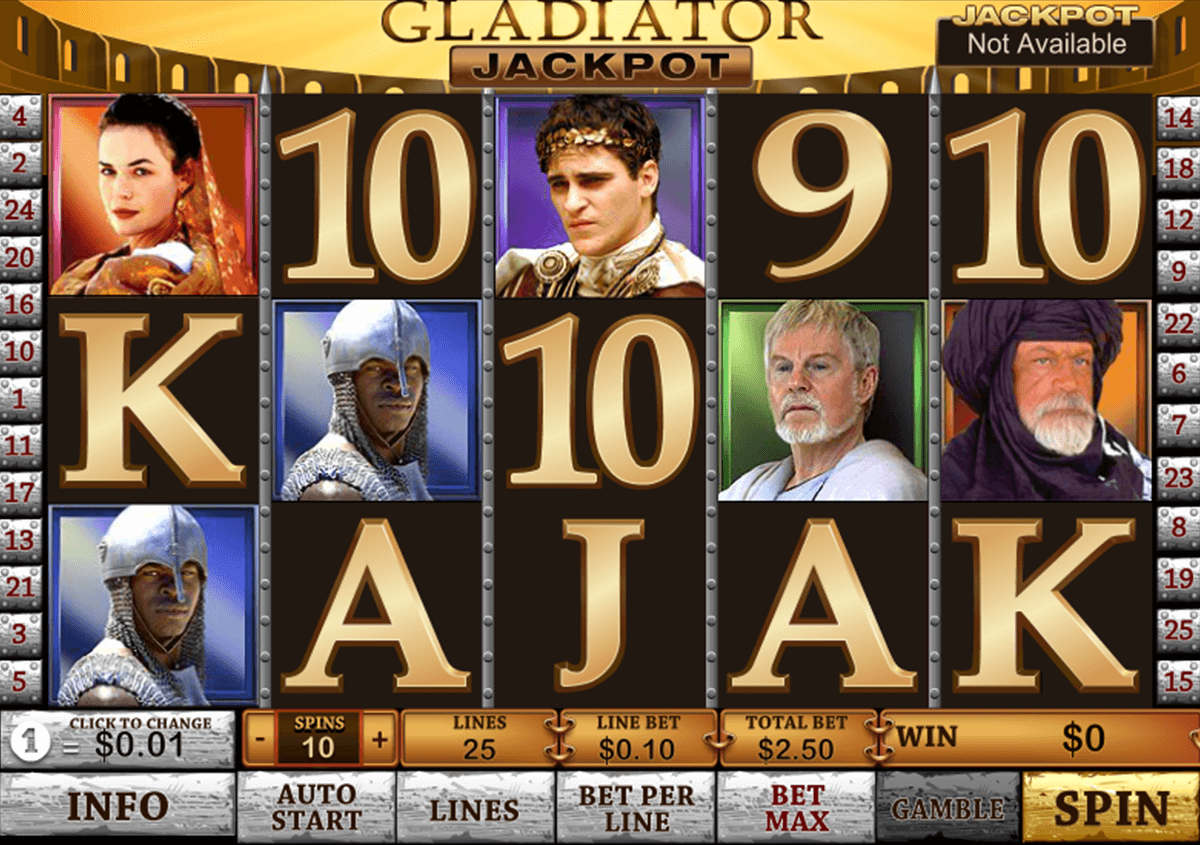 gladiator jackpot playtech casino slot spel