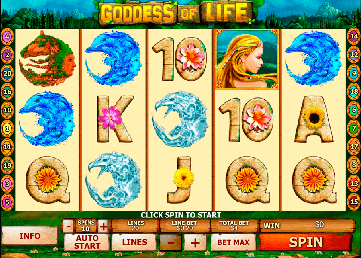 goddess of life playtech casino slot spel