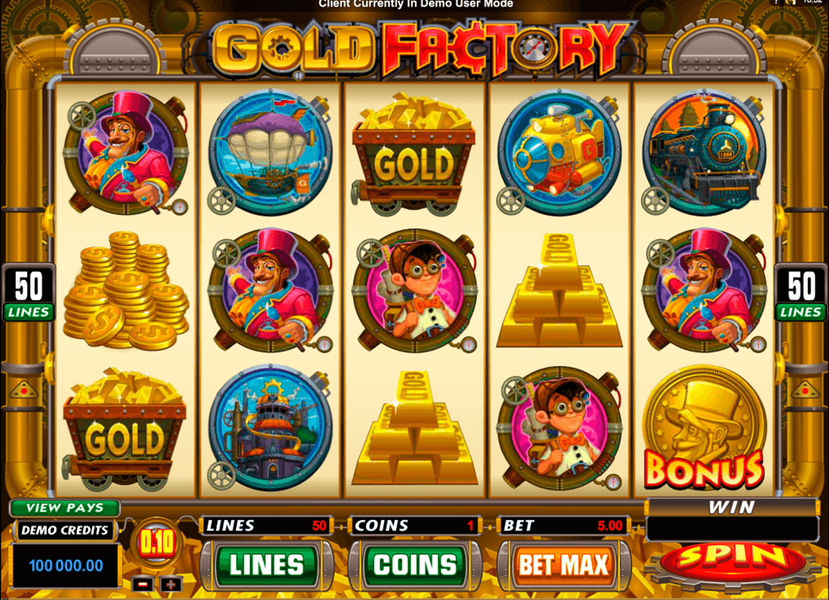 gold factory microgaming casino slot spel