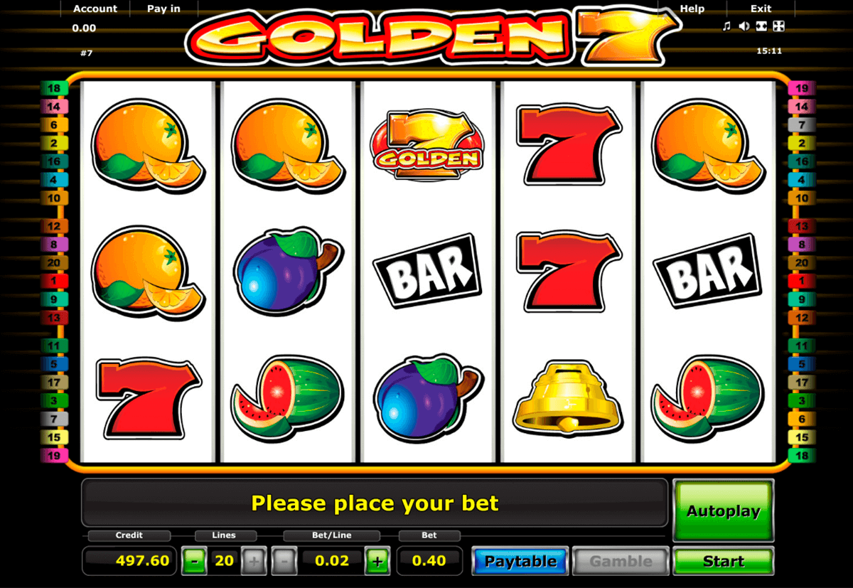 golden 7 novomatic casino slot spel
