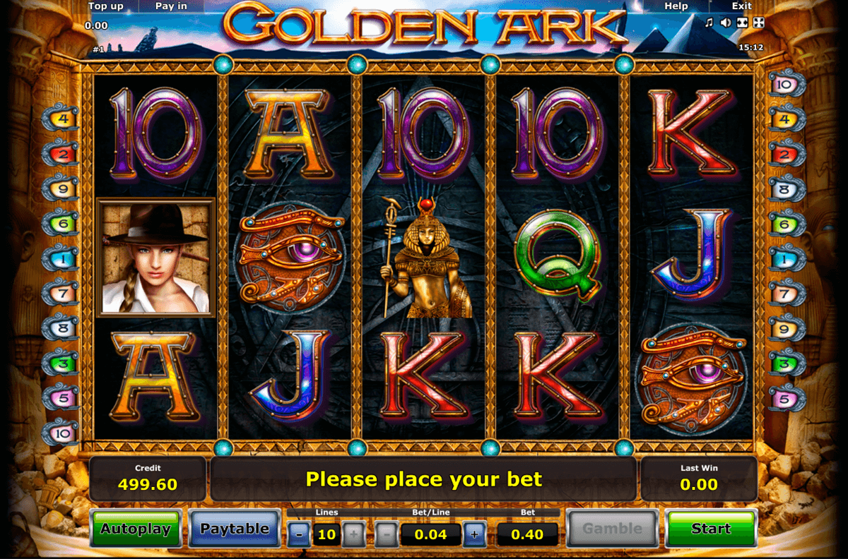 golden ark novomatic casino slot spel
