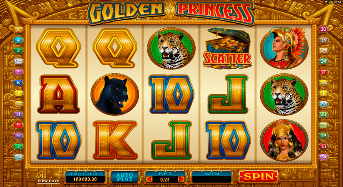 golden princess microgaming casino slot spel