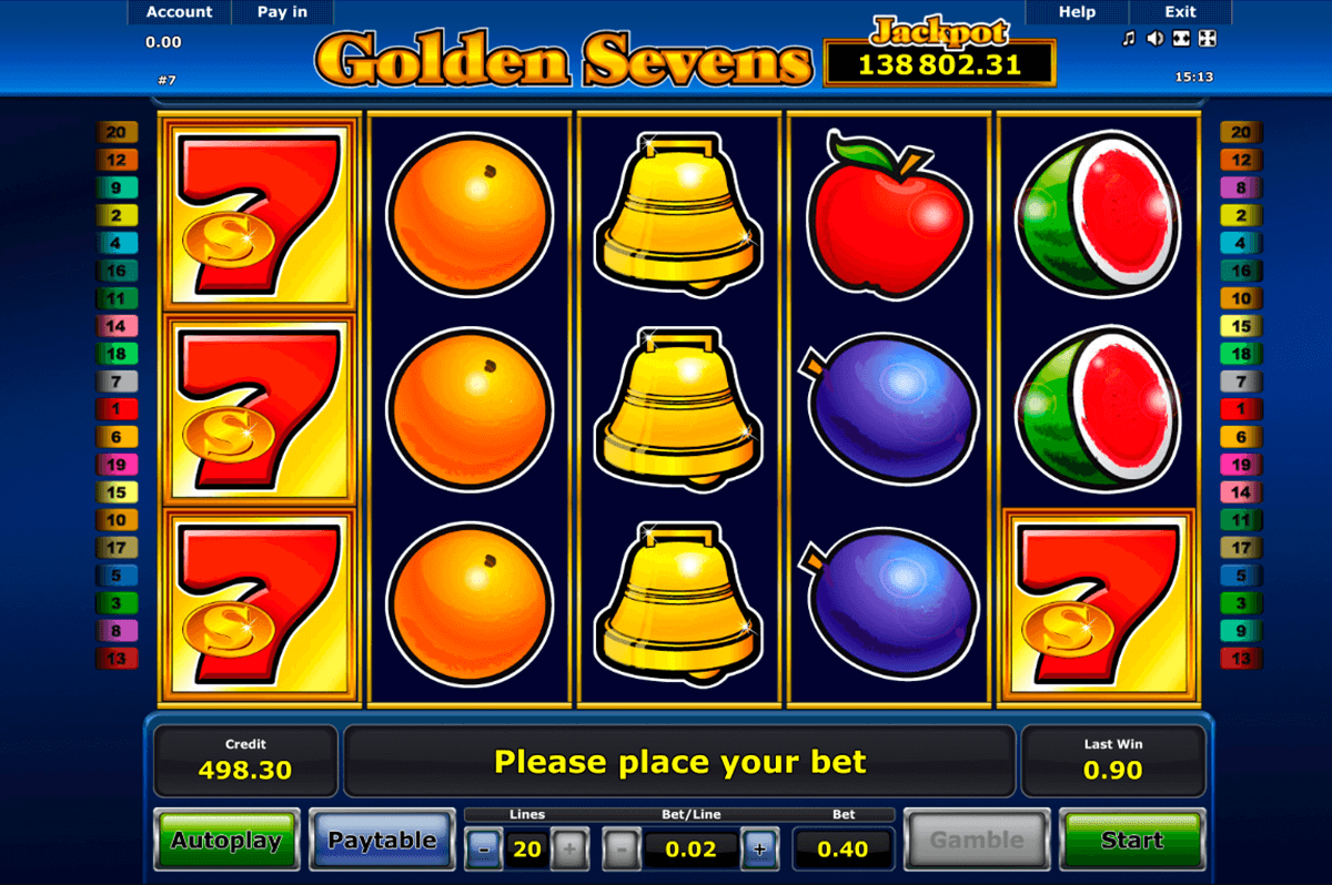 golden sevens novomatic casino slot spel