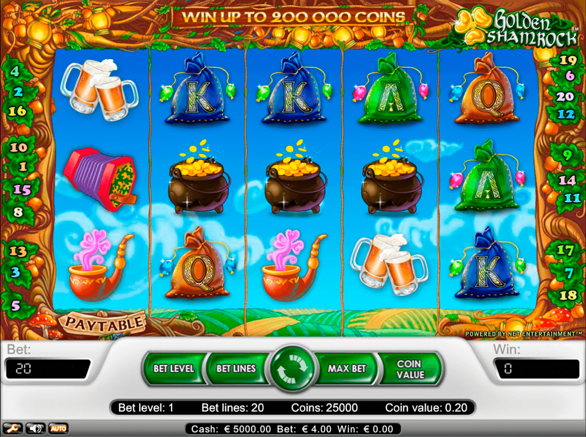 golden shamrock netent casino slot spel