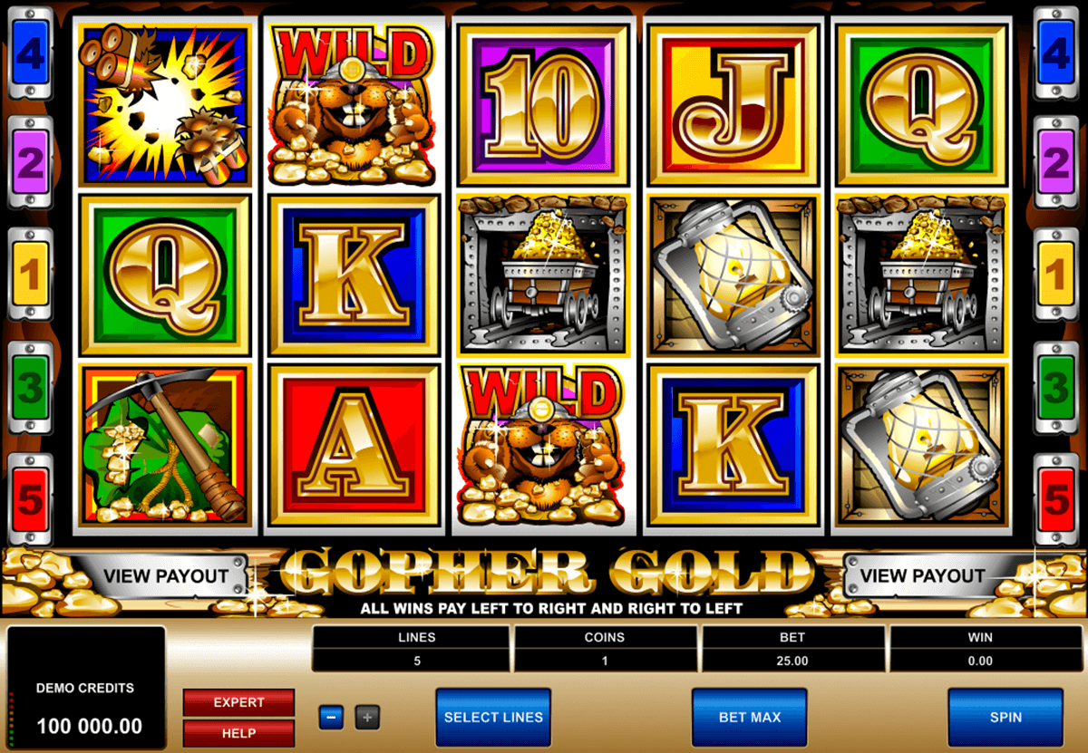 gopher gold microgaming casino slot spel