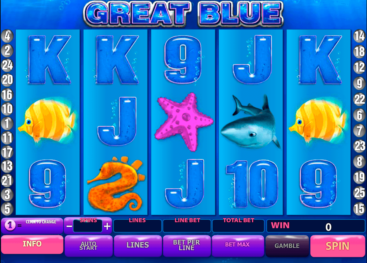 great blue playtech casino slot spel