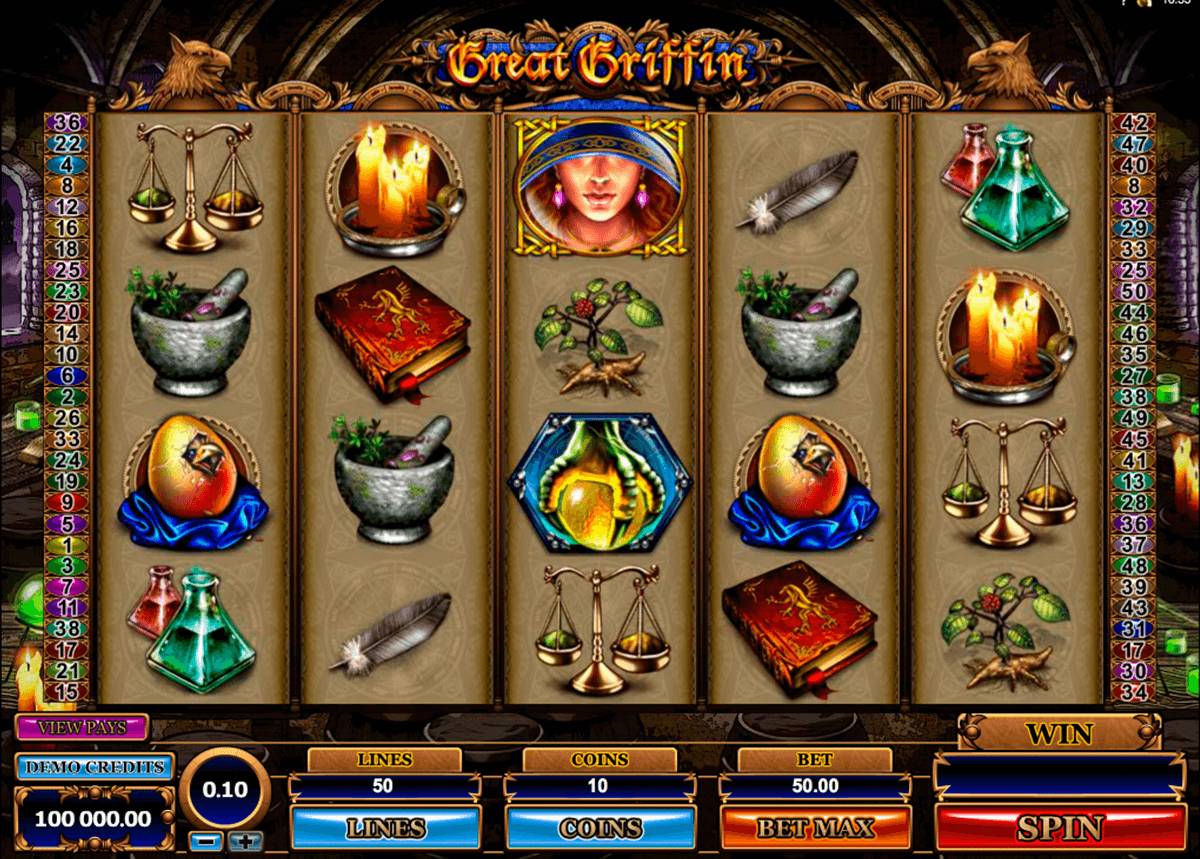 great griffin microgaming casino slot spel