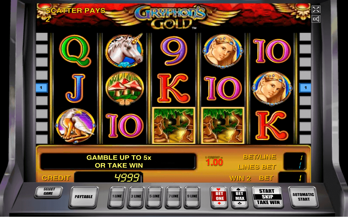 gryphons gold novomatic casino slot spel