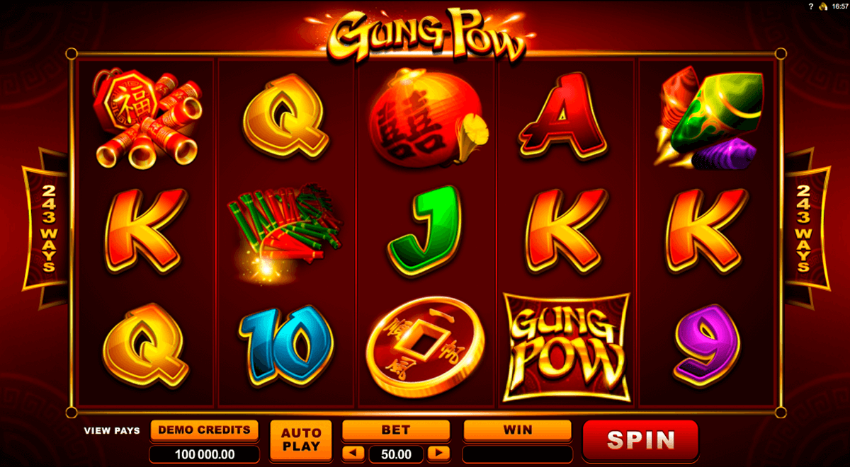 gung pow microgaming casino slot spel