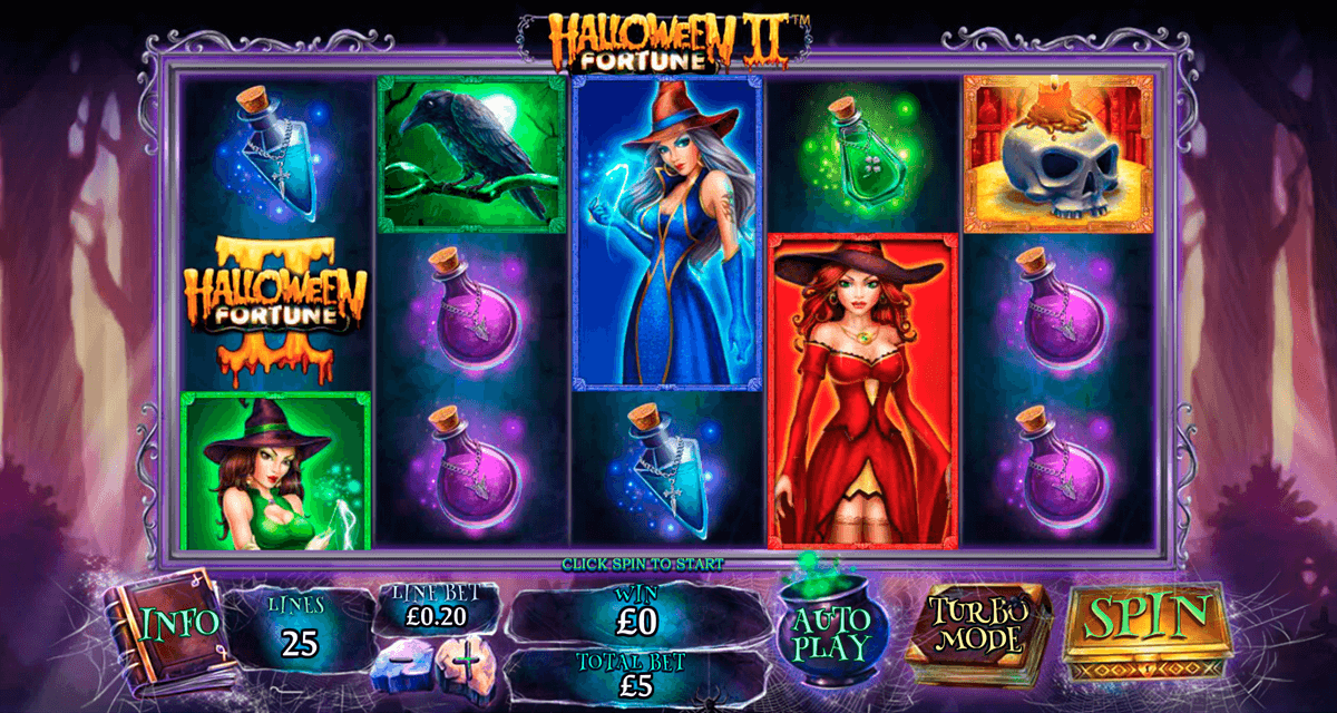 halloween fortune ii playtech casino slot spel