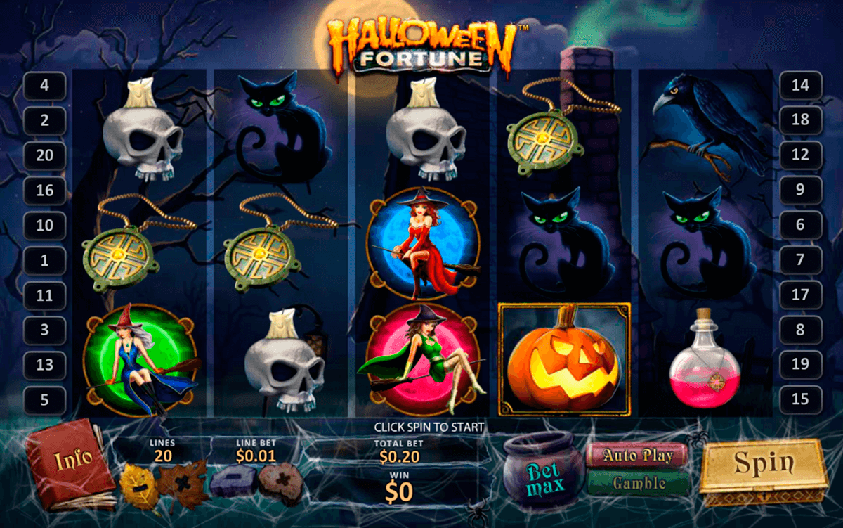 halloween fortune playtech casino slot spel