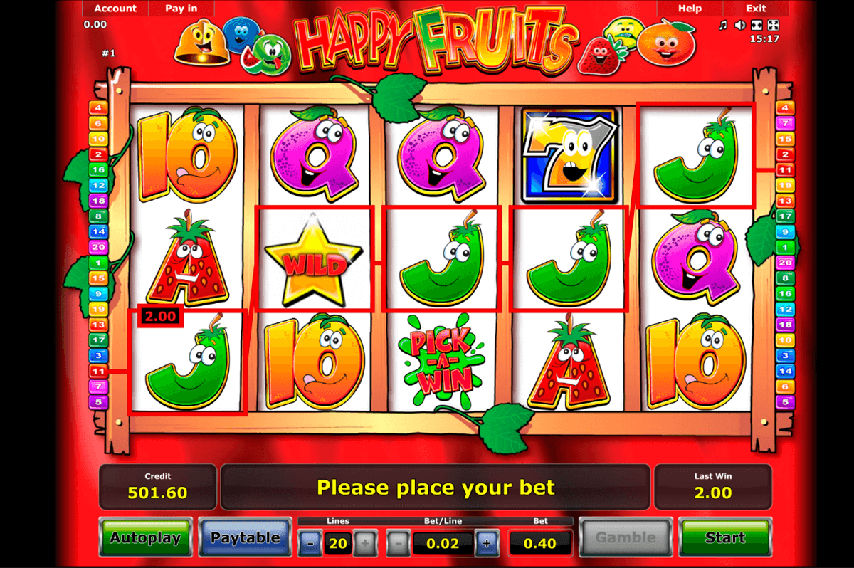 happy fruits novomatic casino slot spel