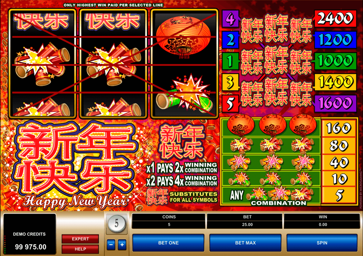 happy new year microgaming casino slot spel