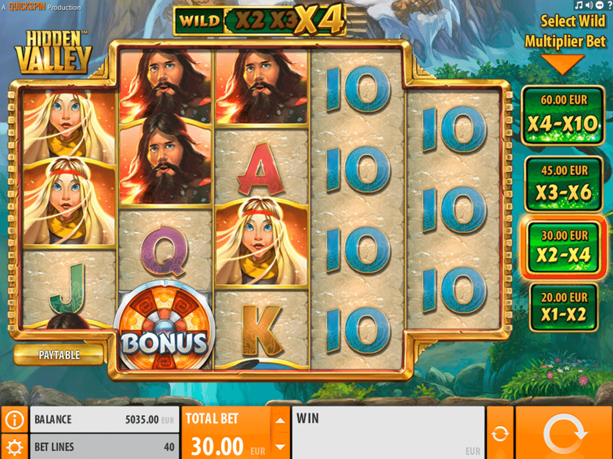 hidden valley quickspin casino slot spel