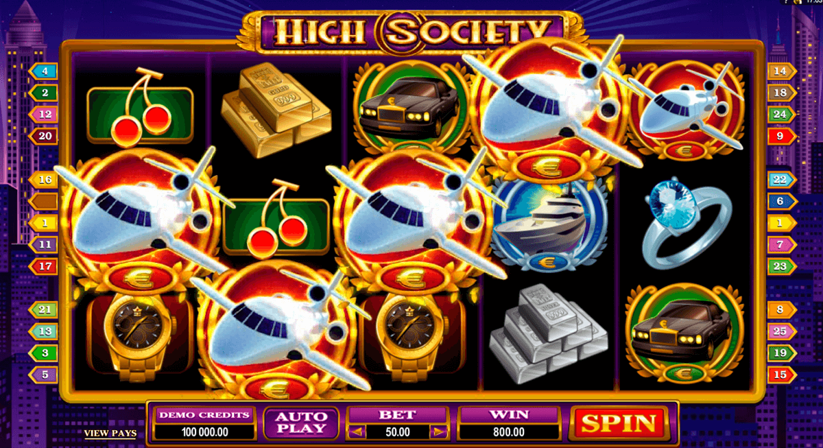 high society microgaming casino slot spel