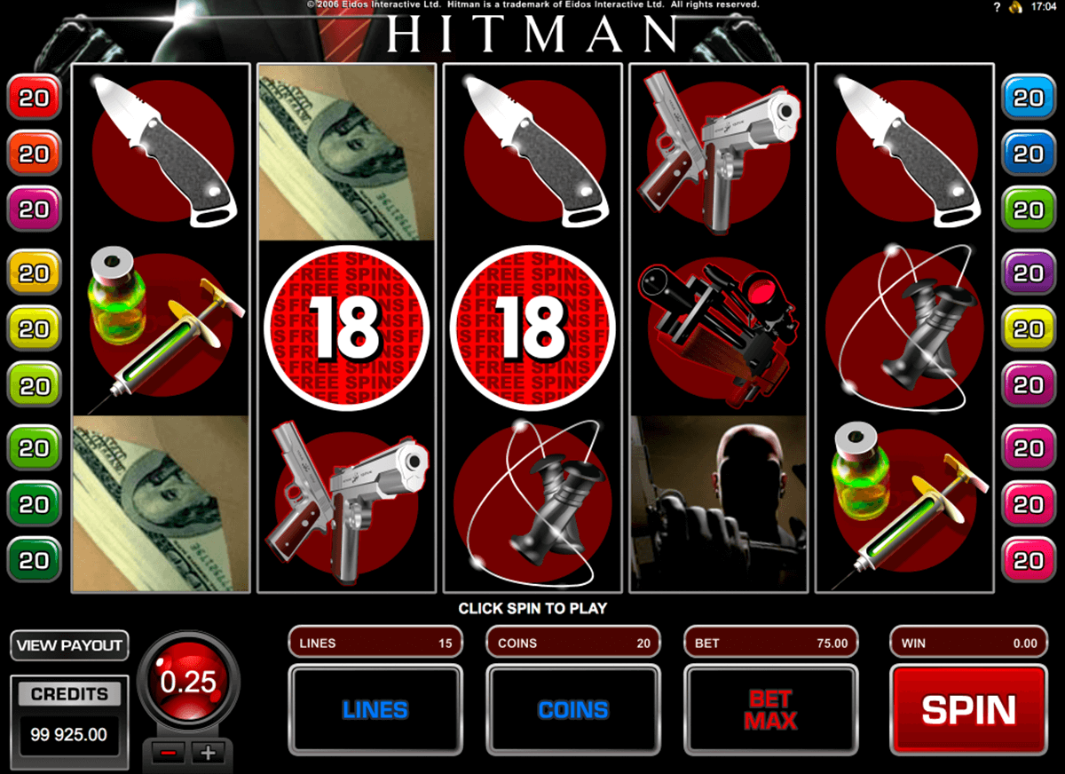 hitman microgaming casino slot spel