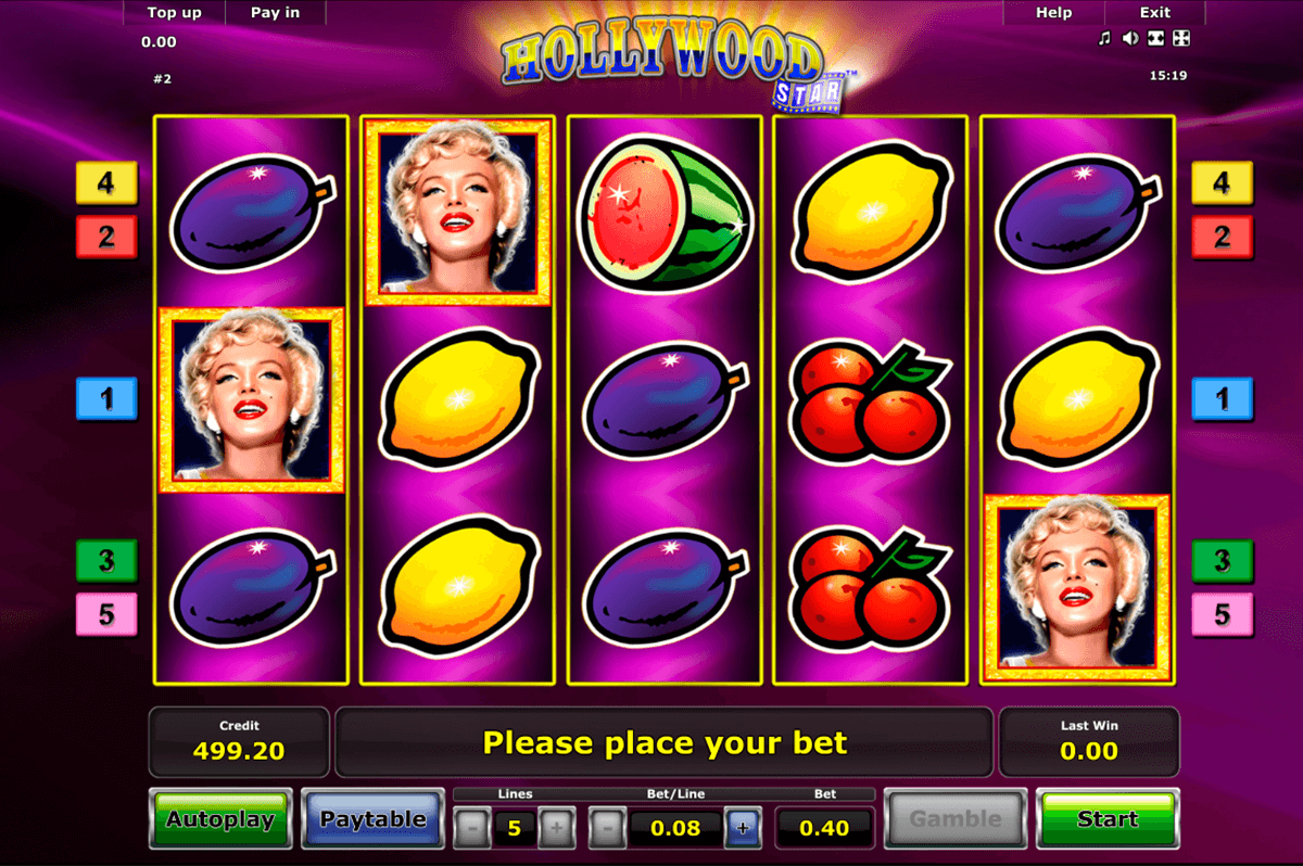 hollywood star novomatic casino slot spel