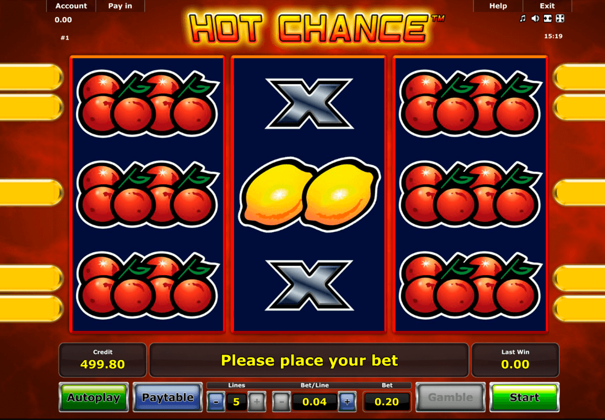 hot chance novomatic casino slot spel