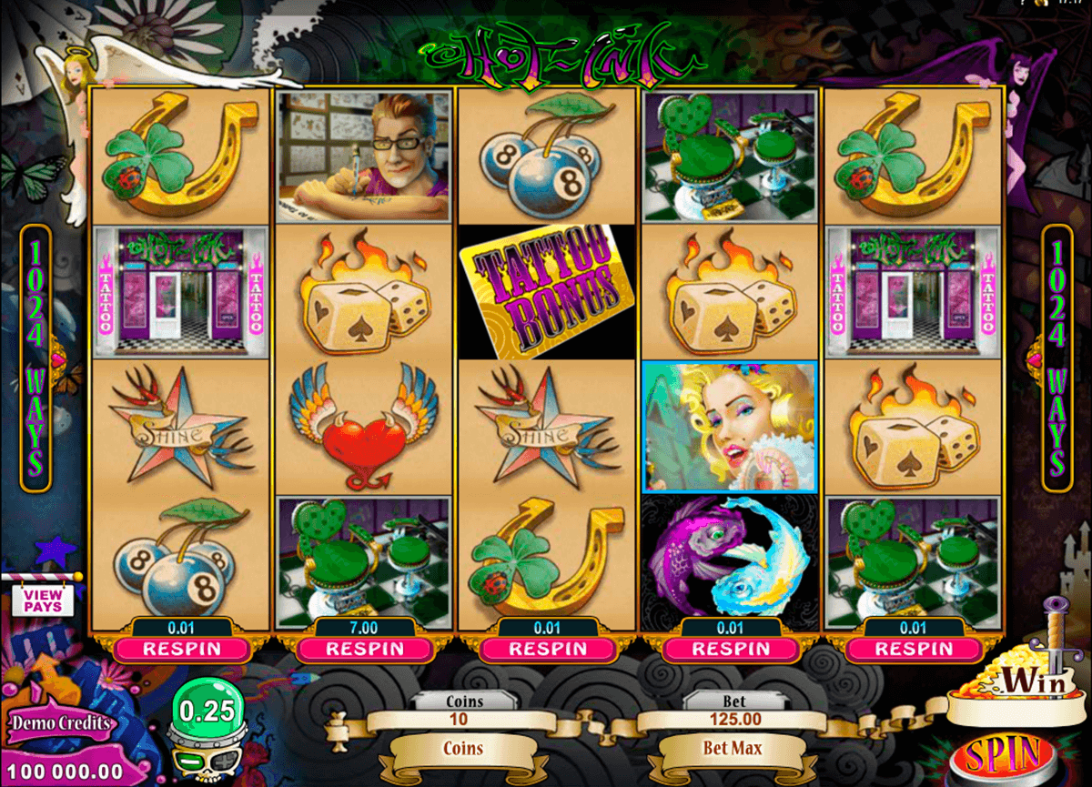 hot ink microgaming casino slot spel
