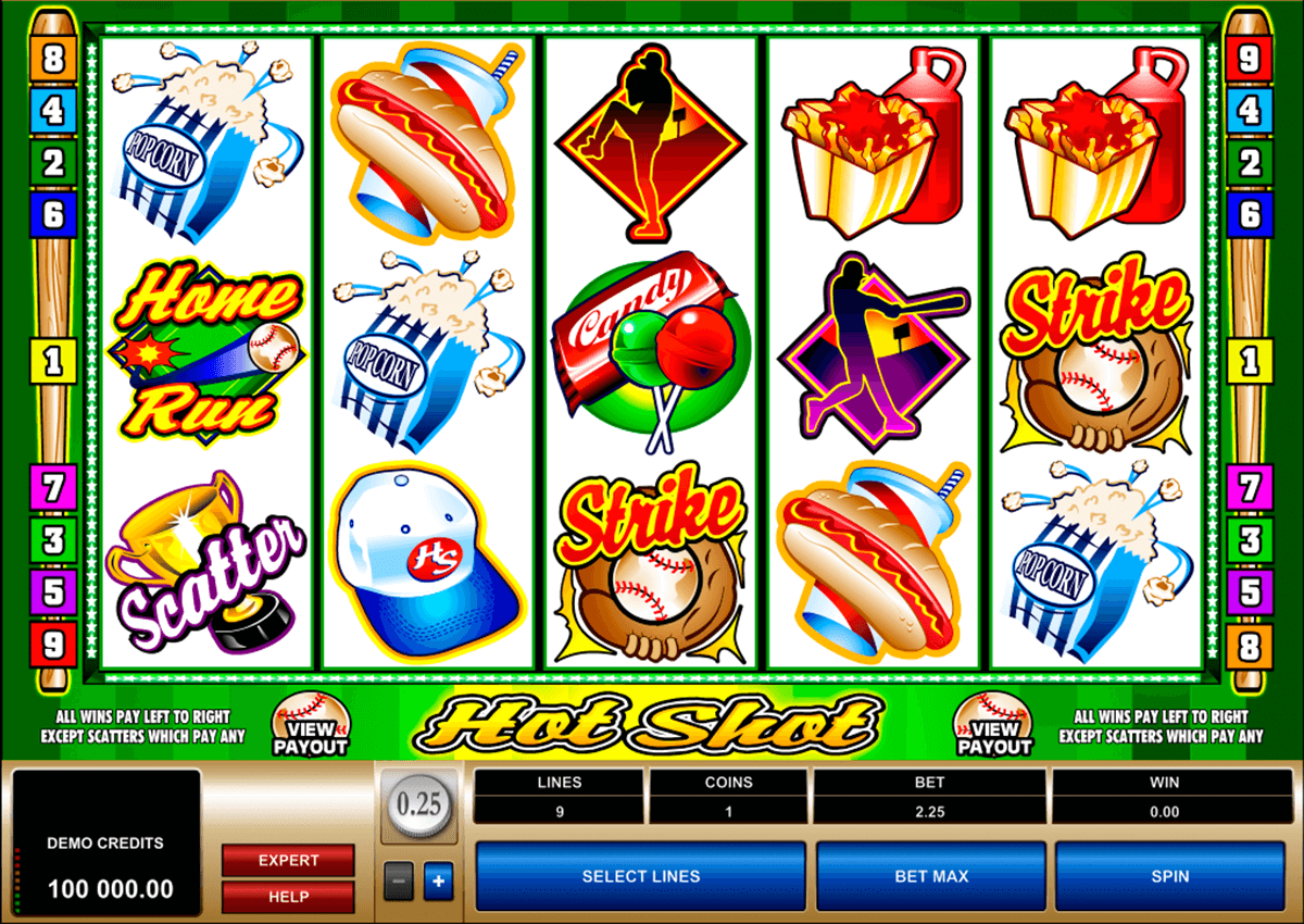 hot shot microgaming casino slot spel