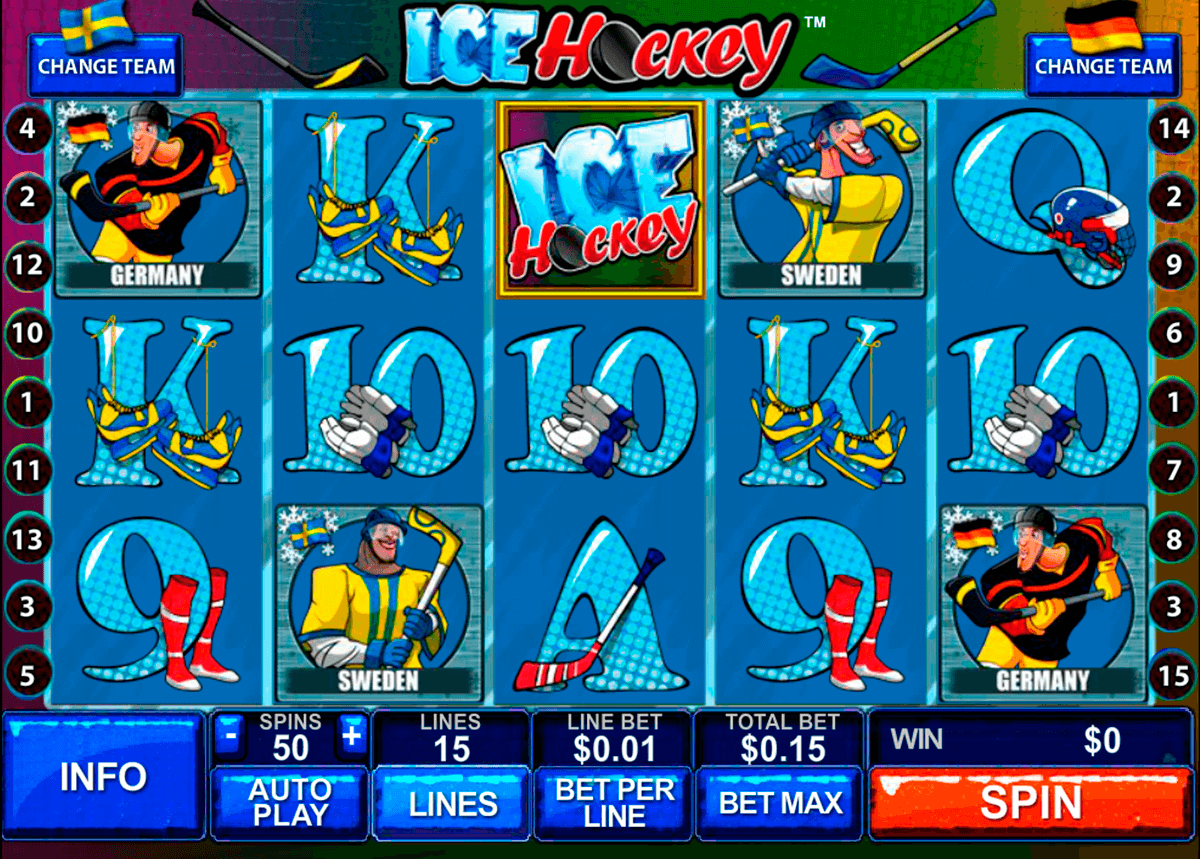 ice hockey playtech casino slot spel