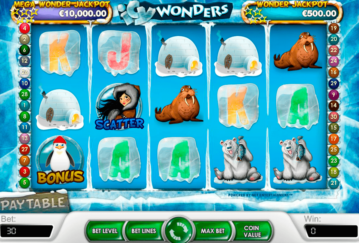icy wonders netent casino slot spel